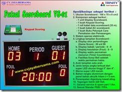 futsal scoreboard, papan skor futsal