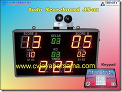judo scoreboard, papan skor judo, scoreboard martial arts